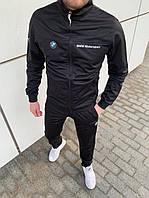Спортивный костюм мужской Puma BMW Motosport черный осенний демисезонный ЛЮКС качества