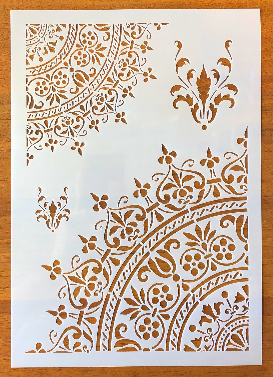 Трафареты многоразовые 34 теснение штамп на стены шаблон УЗОРЫ Мандала для альбомов для скрапбукинга 29*20 см