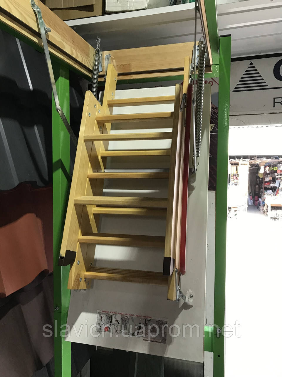 Чердачная лестница деревянная Fakro LWK Komfort H 305 60х130