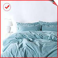 Комплект постельного белья хлопок SoundSleep Stonewash Adriatic, полуторный размер, pastel mint, мятный