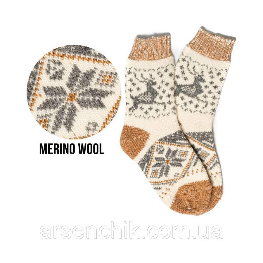 Шерстяные носки с вышивкой 36-39