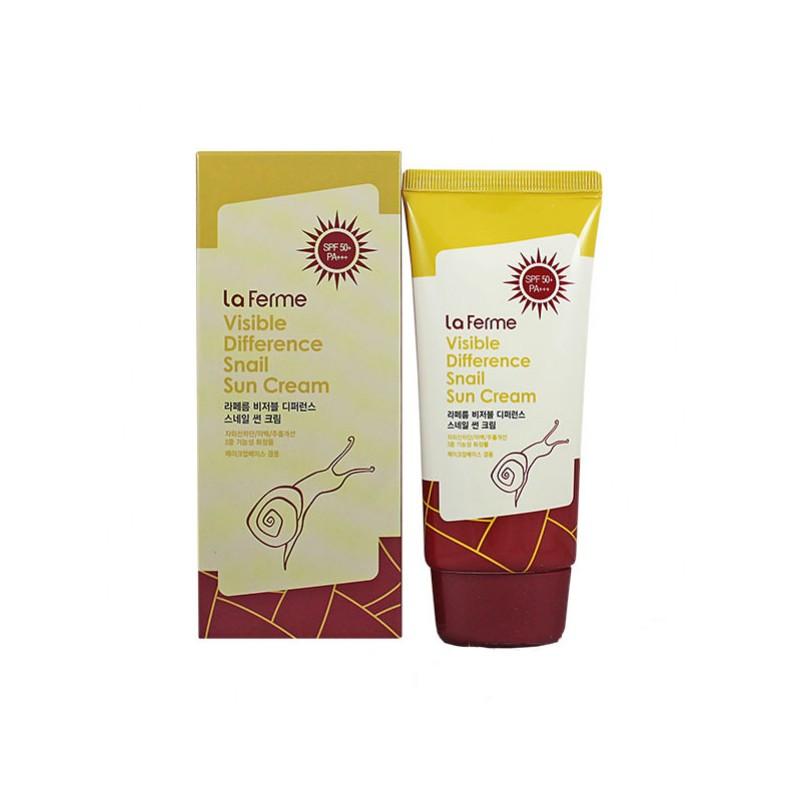 Солнцезащитное средство Farmstay Visible Difference Snail Sun Cream SPF50+ PA+++ (ЕТ000228)