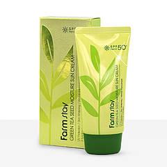 Солнцезащитный крем для лица Farmstay Green Tea Seed Moisture Sun Cream (ЕТ000617)