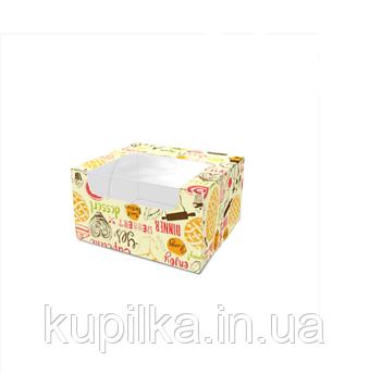 """Картонная коробка для сладостей """"Мини"""", светлая"""