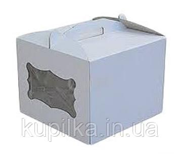 Коробка для торта 300*300*250 с окошком