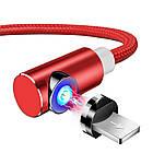 Магнитный кабель для зарядки Topk iPhone 2m 2.1A 360° Красный (TK51i2-VER2-RD), фото 2