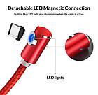 Магнитный кабель для зарядки Topk iPhone 2m 2.1A 360° Красный (TK51i2-VER2-RD), фото 3