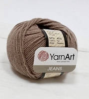 Пряжа Jeans 50гр - 160м (71 Коричневый) YarnArt 55 % хлопок, 45 % полиакрил, Турция