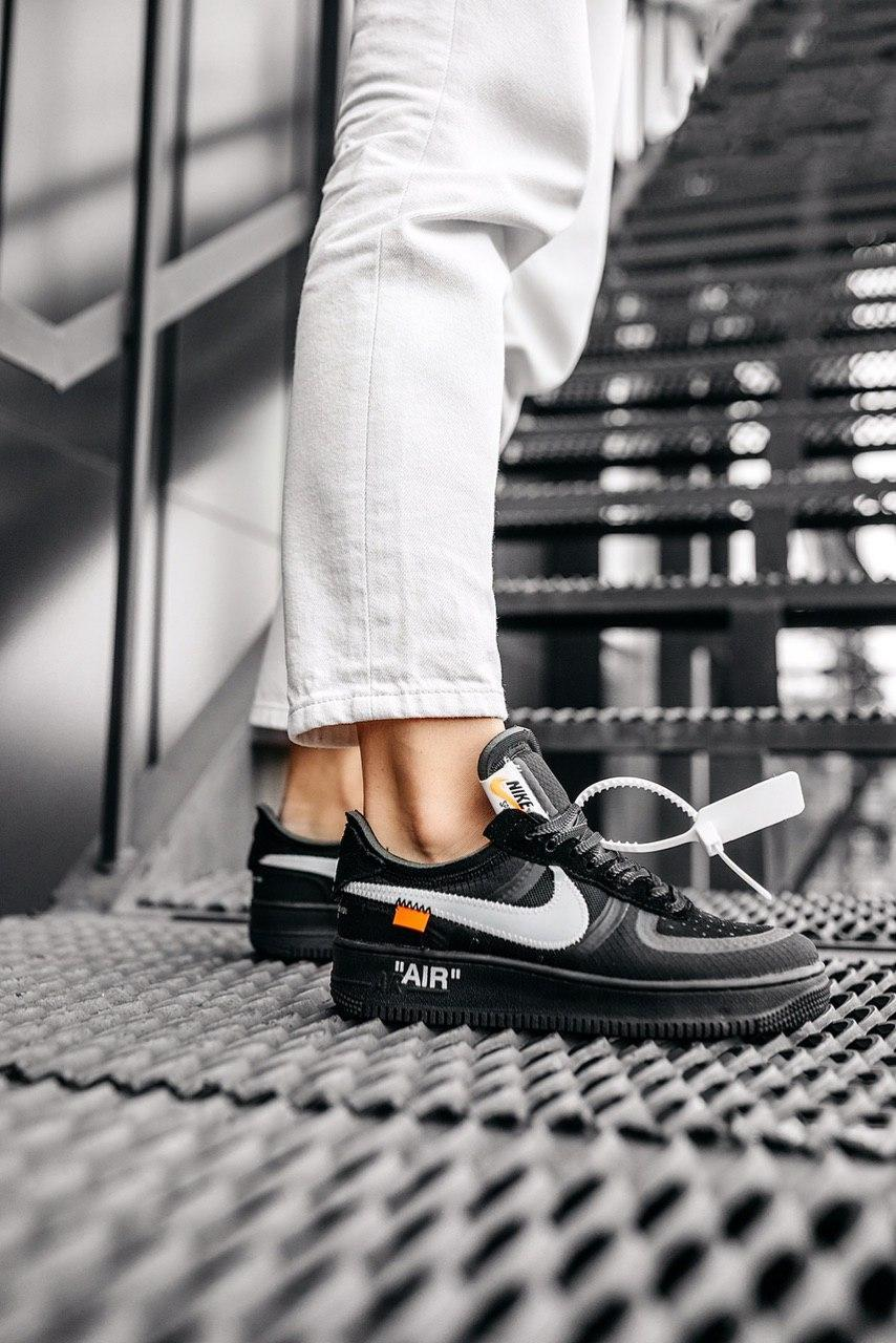 Стильные кроссовки Nike Air Force x Off-White BLACK