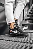Стильные кроссовки Nike Air Force x Off-White BLACK, фото 2