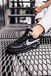 Стильные кроссовки Nike Air Force x Off-White BLACK, фото 6