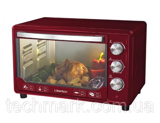 Электродуховка Электрическая печь LIBERTON LEO-481 Dark Red (48л)