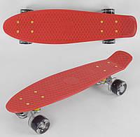 Пенни борд Best Board 8080, колёса PU светящиеся, красный