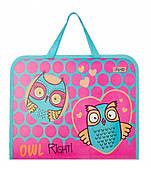 Портфель пластиковый детский на молнии Owl 1 Вересня