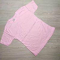 Футболка однотонная розовая для детей  7-12лет. Турция. Оптом