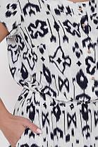 Красиве довге біле сукня з гумкою на талії великого розміру, розмір 52,54,56,58, фото 2