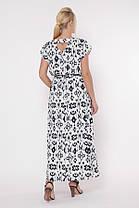 Красивое длинное белое платье с резинкой в талии большого размера, размер 52,54,56,58, фото 3
