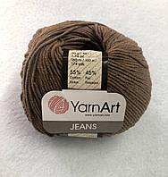 Пряжа Jeans 50гр - 160м (40 Коричневый) YarnArt 55 % хлопок, 45 % полиакрил, Турция