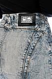Юбка джинсовая OMAT 1371-767 синяя, фото 8