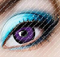 Кукольные фиолетовые линзы контактные 14.5 мм для светлых и темных глаз (N0065)