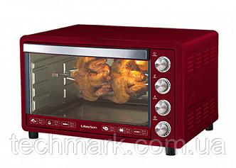 Электродуховка Электрическая печь LIBERTON LEO-651 Dark Red 65л