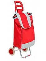 Тачка сумка с колесиками кравчучка 95см E00317 red