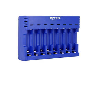 PKCELL PK-8181 восьмиканальное зарядний для АА, ААА NiMh / NiCd акумуляторів синього кольору