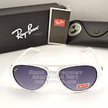 Мужские солнцезащитные очки Ray Ban Cats 5000 RB 4125 белые Брендовые RB4125 Стильные Рей Бан реплика, фото 5