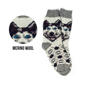 Вовняні шкарпетки з вишивкою чоловічі