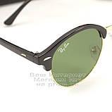 Чоловічі сонцезахисні окуляри Ray Ban Clubround Classic RB 4246 901 лінзи скло RB4246 Брендові Рей Бан копія, фото 2