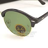 Чоловічі сонцезахисні окуляри Ray Ban Clubround Classic RB 4246 901 лінзи скло RB4246 Брендові Рей Бан копія, фото 4