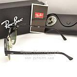 Чоловічі сонцезахисні окуляри Ray Ban Clubround Classic RB 4246 901 лінзи скло RB4246 Брендові Рей Бан копія, фото 3