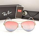 Женские солнцезащитные очки Ray Ban Aviator разноцветные розовые RB 3026 3025 Авиаторы Рей Бан реплика, фото 7