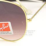 Чоловічі сонцезахисні окуляри Ray Ban Aviator RB 3026 Авіатори Авіатор Брендові Стильні Рей Бан репліка, фото 3