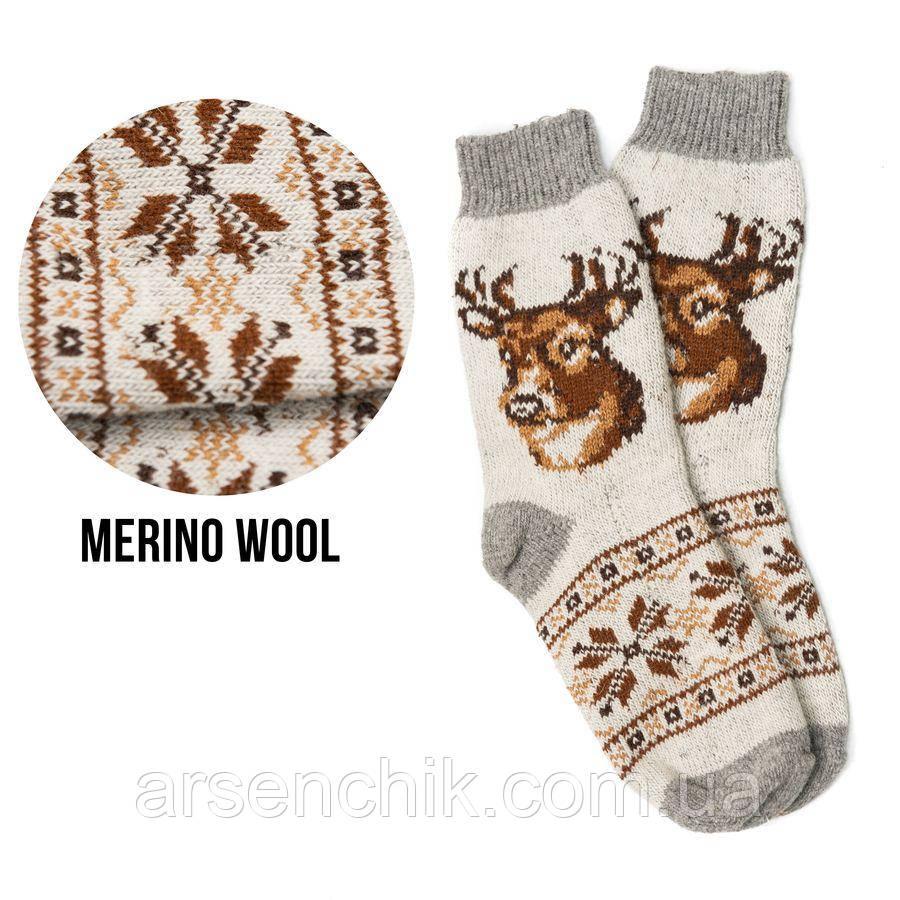 Вовняні шкарпетки з вишивкою 41-45