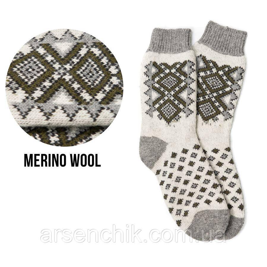 Шерстяные носки с вышивкой 41-45