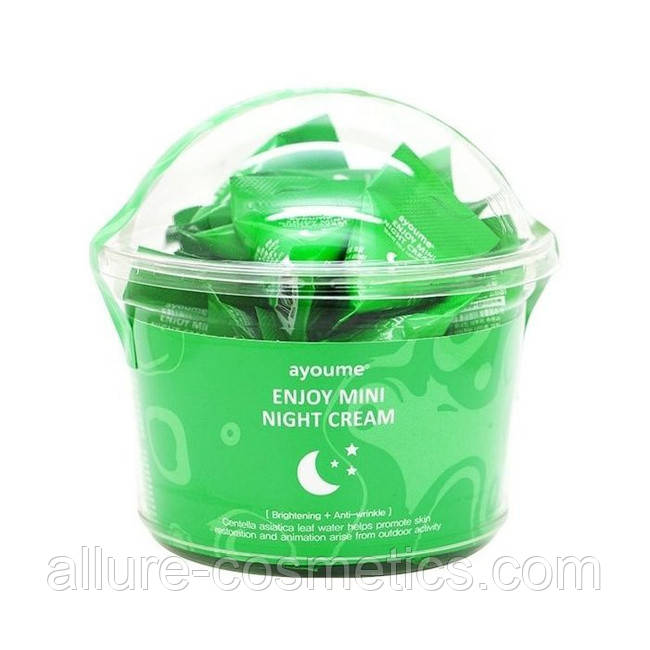 Ночной крем для лица с центеллой AYOUME Enjoy Mini Night Cream 30шт по 3гр