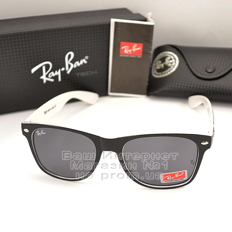 Женские солнцезащитные очки Ray Ban Wayfarer RB 2140 линзы стекло Вайфареры Брендовые Рей Бан реплика
