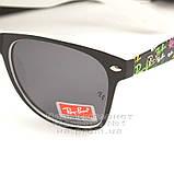 Женские солнцезащитные очки Ray Ban Wayfarer RB 2140 линзы стекло Вайфареры Брендовые Рей Бан реплика, фото 3