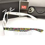 Женские солнцезащитные очки Ray Ban Wayfarer RB 2140 линзы стекло Вайфареры Брендовые Рей Бан реплика, фото 4