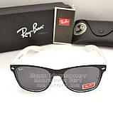 Женские солнцезащитные очки Ray Ban Wayfarer RB 2140 линзы стекло Вайфареры Брендовые Рей Бан реплика, фото 6