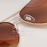 Жіночі сонцезахисні окуляри Ray Ban Aviator RB 3026 Авіатори Авіатор Брендові Стильні Рей Бан репліка, фото 5