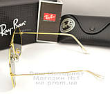 Жіночі сонцезахисні окуляри Ray Ban Aviator RB 3026 Авіатори лінзи зелені Брендові Рей Бан 3025 репліка, фото 4