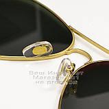 Жіночі сонцезахисні окуляри Ray Ban Aviator RB 3026 Авіатори лінзи зелені Брендові Рей Бан 3025 репліка, фото 5