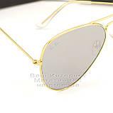 Женские солнцезащитные очки Ray Ban Aviator RB 3026 Авиаторы зеркальные линзы Брендовые Рей Бан 3025 реплика, фото 2