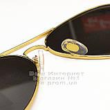 Женские солнцезащитные очки Ray Ban Aviator RB 3026 Авиаторы зеркальные линзы Брендовые Рей Бан 3025 реплика, фото 5