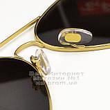 Жіночі сонцезахисні окуляри Ray Ban Aviator RB 3026 Авіатори дзеркальні сині лінзи Рей Бан 3025 репліка, фото 5