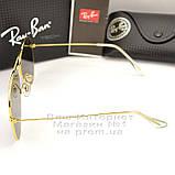 Женские солнцезащитные очки Ray Ban Aviator RB 3026 Авиаторы зеркальные зеленые линзы Рей Бан 3025 реплика, фото 4