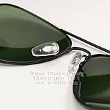 Женские солнцезащитные очки Ray Ban Aviator RB 3026 Авиаторы линзы стекло Брендовые Стильные Рей Бан реплика, фото 6