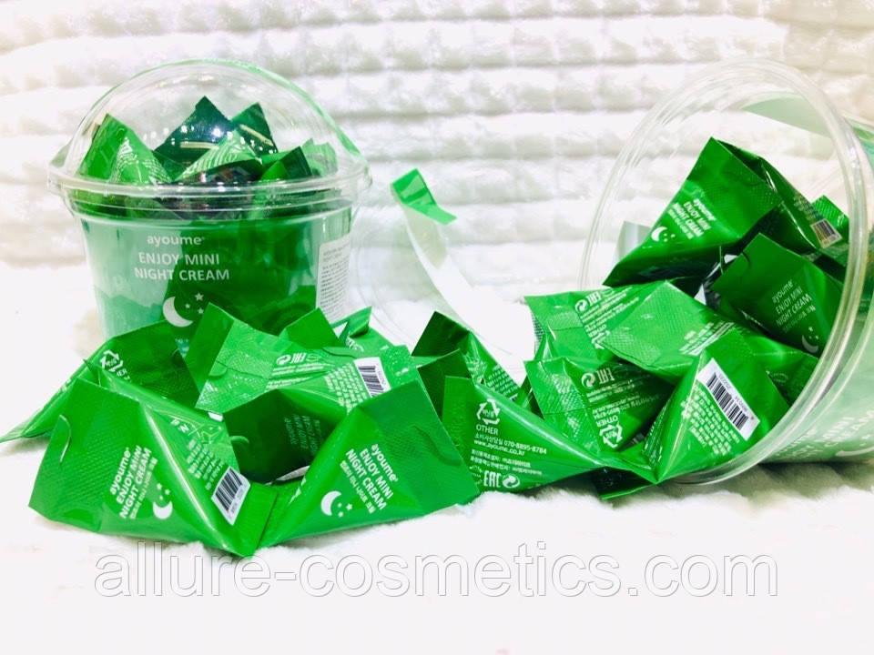 Ночной крем для лица с центеллой AYOUME Enjoy Mini Night Cream 1шт 3гр